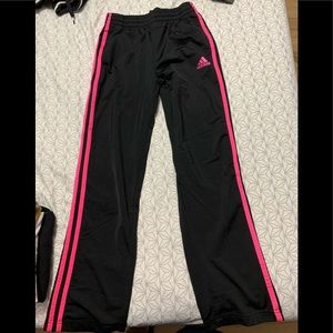 Pink and Black Adidas Pants